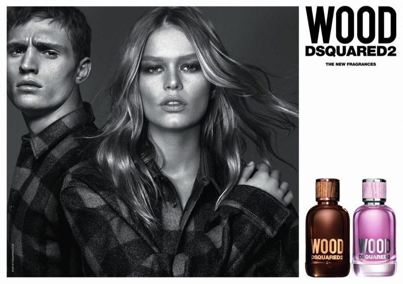 4a2644547f297 Anna Ewers Wears Plaid for DSquared2  Wood  Fragrance Campaign