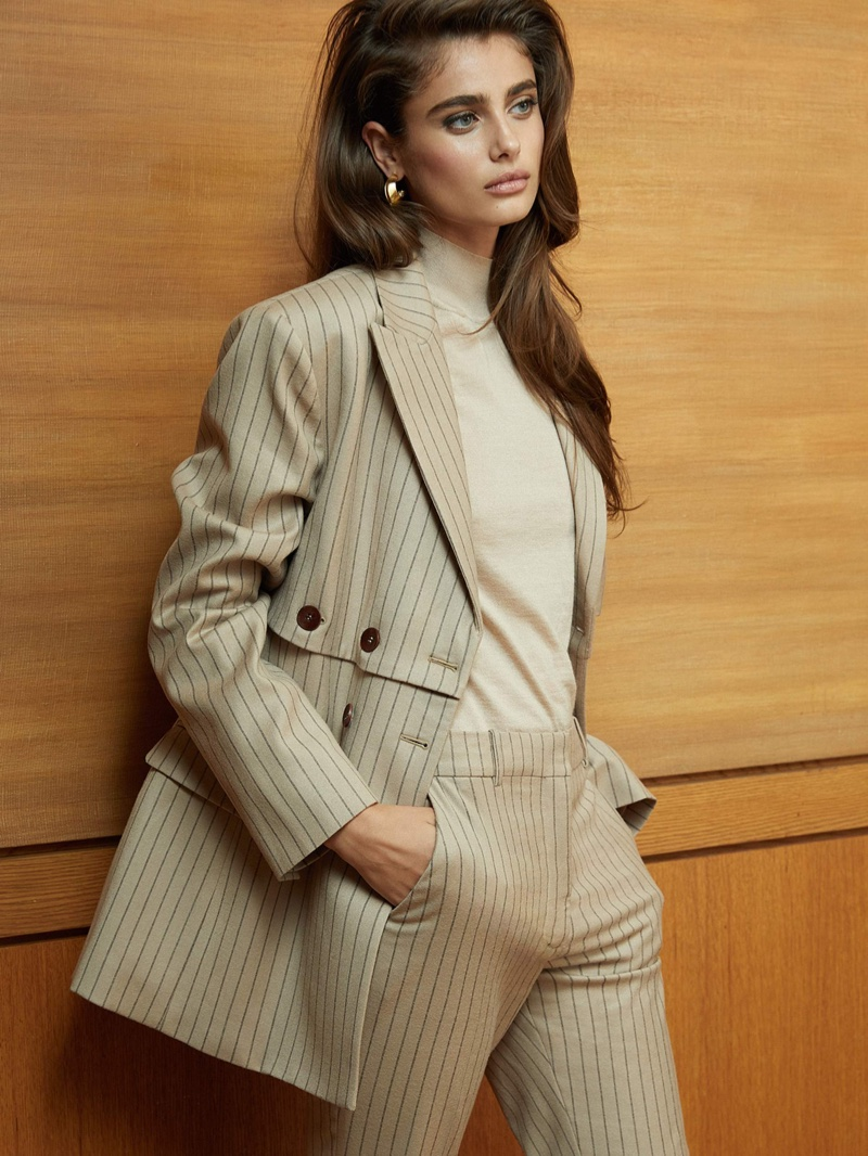 b26e3912ab3a0 Taylor Hill Models Chic Neutral Fashions for PORTER Edit