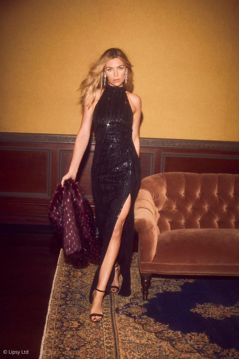Abbey Clancy Turns Up the Glam Factor with Lipsy London