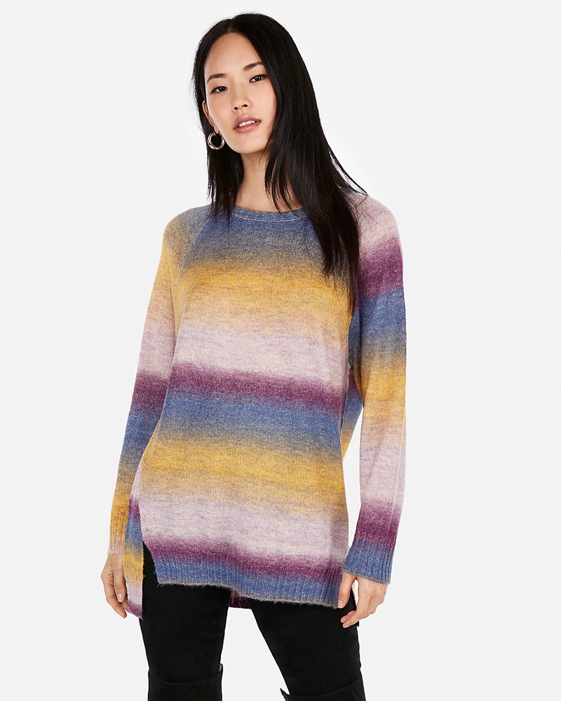 Express Ombre Space Dye Oversized Tunic Sweater $34.95 (previously $69.90)