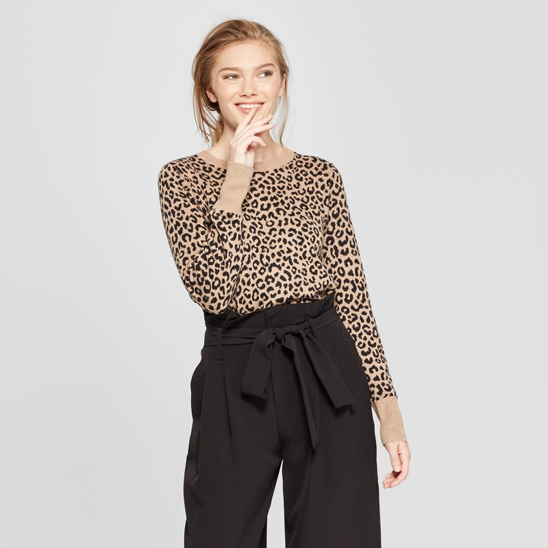 New Day Leopard Print Pullover Sweater $19.99
