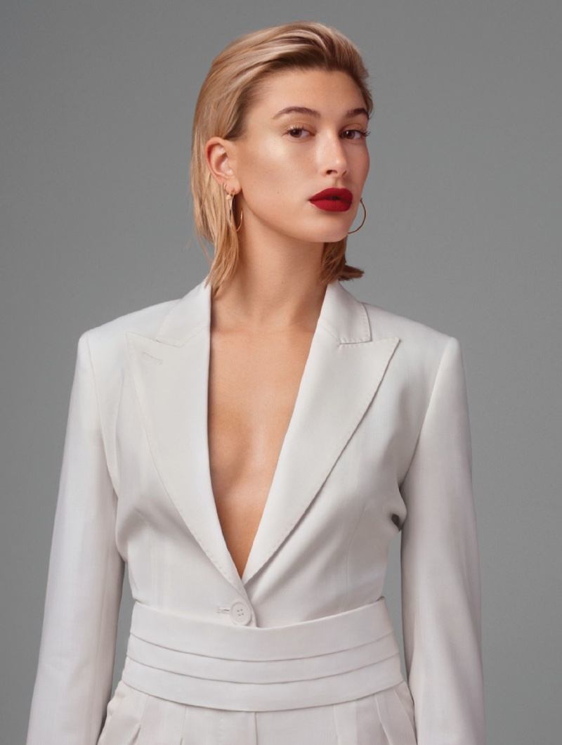 Hailey Baldwin Wears Pared Down Looks for L'Officiel Paris
