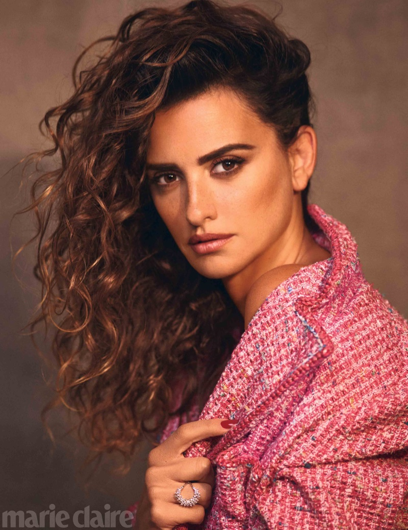 Penelope Cruz poses in Chanel jacket and jewelry