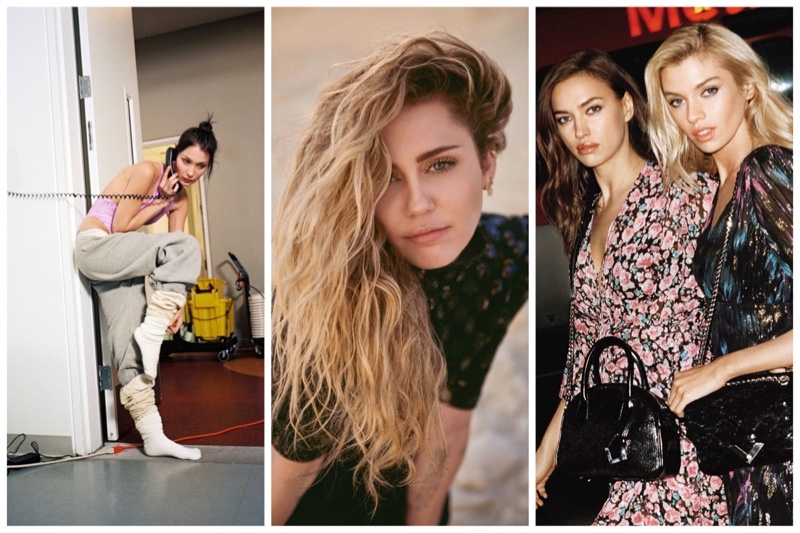 Week in Review | Bella Hadid in Athleisure, Irina & Stella for The Kooples, Miley Cyrus Covers Vanity Fair + More