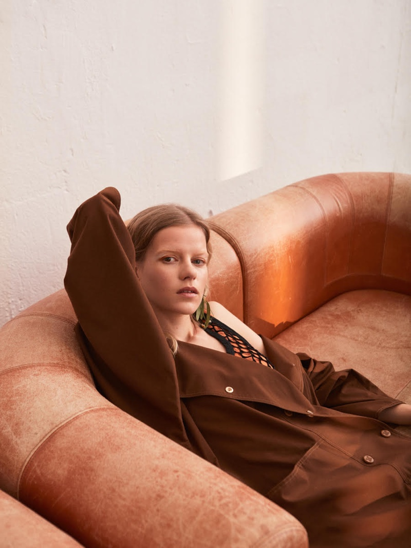 Kadri Vahersalu Relaxes in Neutral Looks for ELLE Sweden