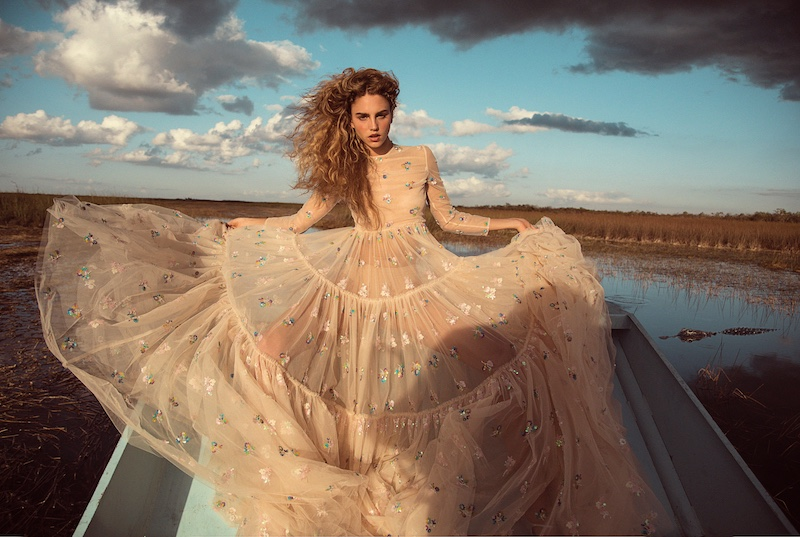 GNTM's Simone Stuns in the Everglades for InStyle Germany