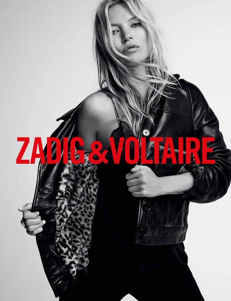 Zadig & Voltaire enlists Kate Moss for fall-winter 2019 campaign