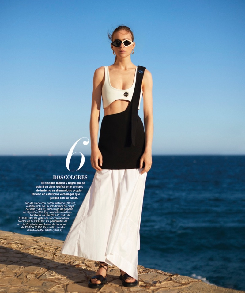 Kim Noorda Embraces Beach Fashion for Harper's Bazaar Spain