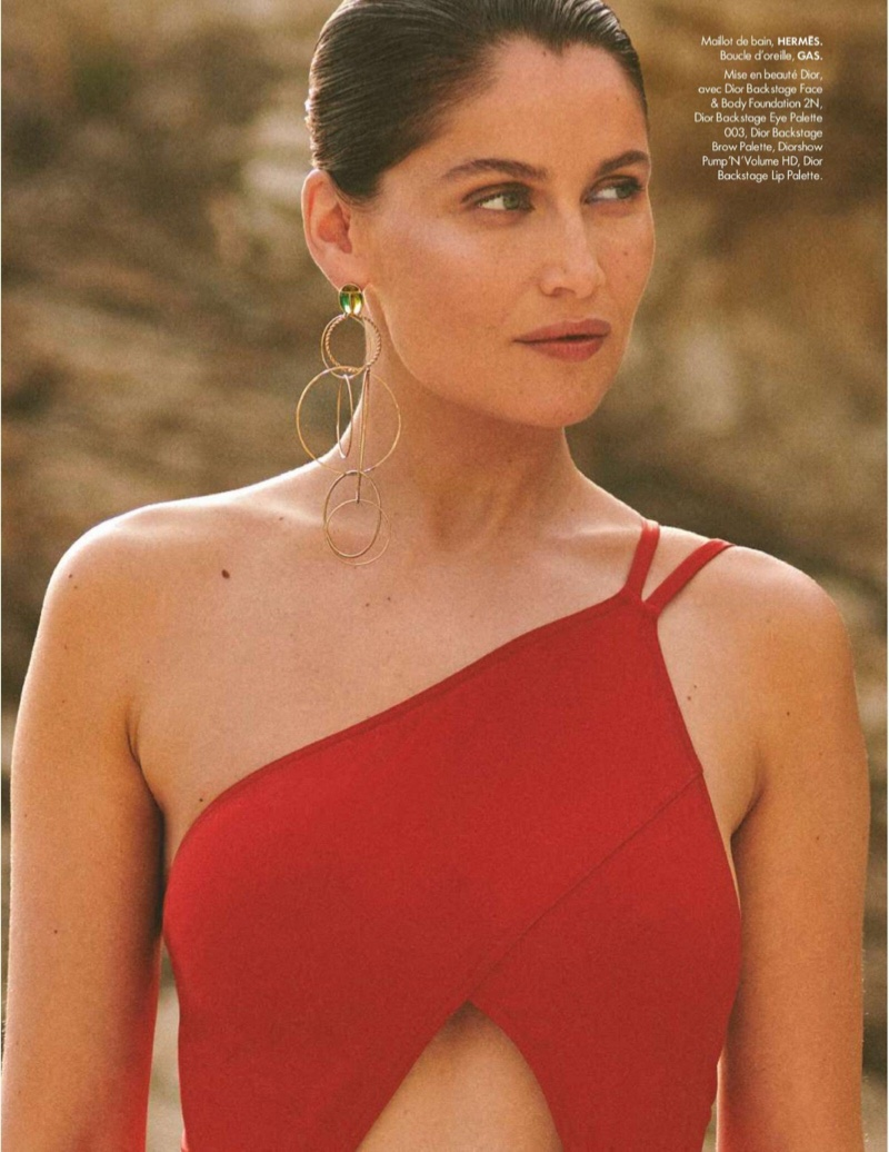 Laetitia Casta Smolders in Summer Styles for ELLE France